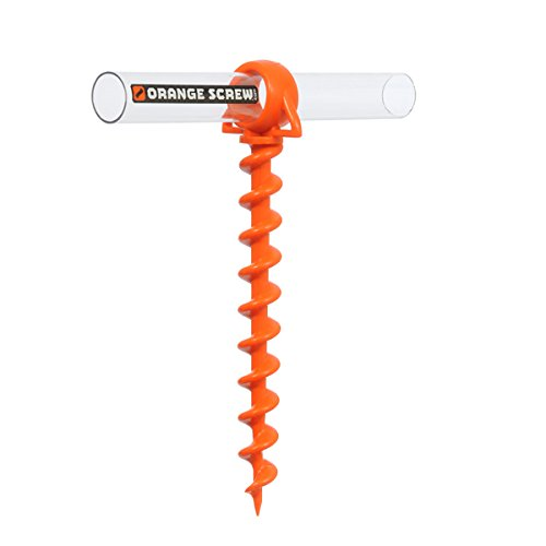 Product Image 1: Orange Screw: The Ultimate Ground Anchor   Small 4 Pack   Made in USA (Orange)