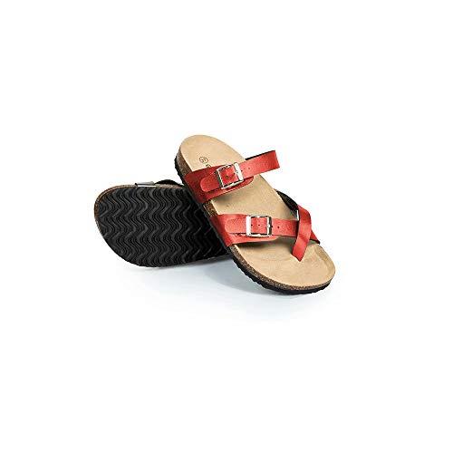 BABYONLINE D.R.E.S.S. Flache Sandalette Damen Comfy Casual Sandalette rutschfest Sommerschuhred