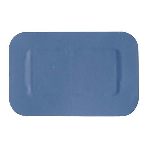 Blauwe pleister - grote patch - 75 mm x 50 mm (50 stuks) - latexvrij en waterdicht