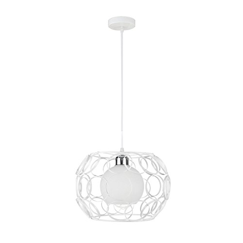 SODIAL Bianco Vintage industriale Lampada da soffitto vintage lampadario di Cafe Bar Restaurant illumina semplici creativo Lampade Nordic sala da pranzo camera da letto luci Bar Lampadari