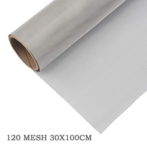 TIMESETL 304 Edelstahl Drahtgewebe Edelstahlgewebe 120 Mesh, 30 x 100CM Filtersieb Blatt Filtrationstuch
