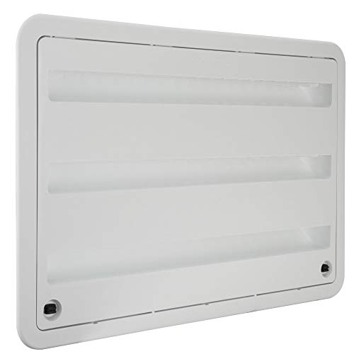 RV Camper Trailer 24' inch Dometic Refrigerator Side Wall Vent White 3109350.011