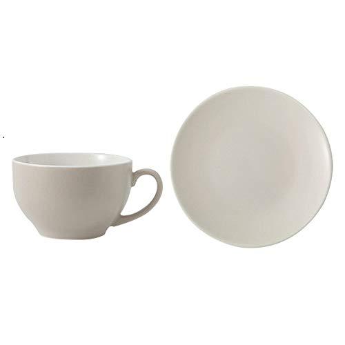 SXXYTCWL Taza de café y platillo Conjunto Cerámica Matte Flower Tea Tea Hogar Pequeña Capacidad Leche Bebida Jugo Cacao Concentrado Concentrado Latte Latte Cup Apto para la cafetería de la Oficina en