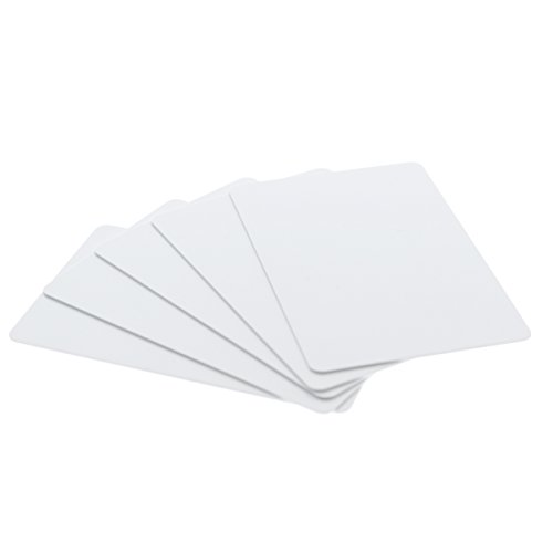 100 Pack - Premium Blank PVC Cards for ID Badge Printers - Graphic Quality White Plastic CR80 30 Mil (CR8030) by Specialist ID - Compatible with Most Photo ID Badge Printers (White)
