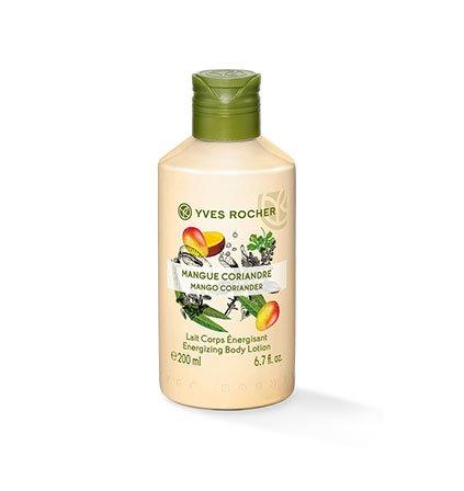 Yves Rocher LES PLAISIRS NATURE Körpermilch Mango-Koriander, feuchtigkeitsspendende Body Milk, 1 x Flacon 200 ml