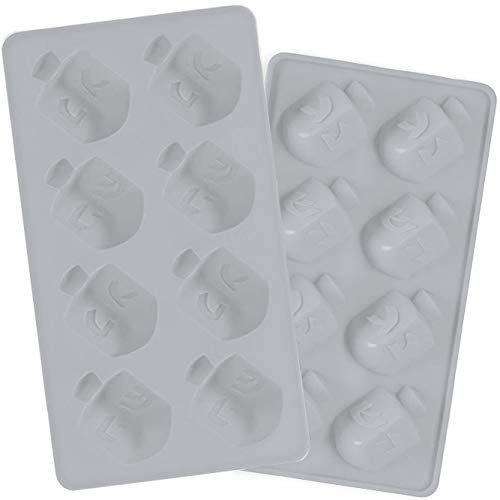 Hanukkah Silicone Ice Cube Mold Tray, Dreidel and Menorah Molds, Fun Cooking and Baking Holiday (Dreidel Mold)