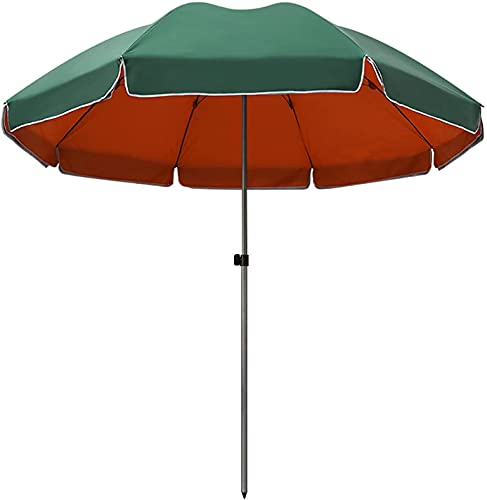 GH-YS Sombrilla De Playa Anti-UV Impermeable UPF50 + Sombrilla De Mesa Al Aire Libre Sombrilla De Jardín Patio Paño De Oxford Capa Interior De Pegamento Plateado Piscina Plataforma Verde Oscuro