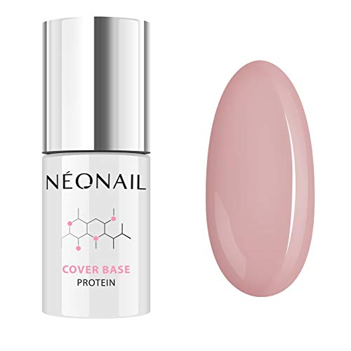 NeoNail UV Nagellack 7,2 ml - Cover Base Protein - 3 Farben - UV Lack Gel Polish Soak off Nagellack UV Gel LED Polish Lack Shellac (7034-7 Cover Base Protein (Natural Nude))