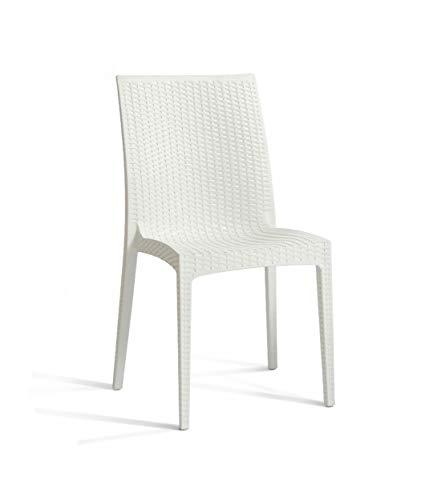 DCB GARDEN Cagliari Chaise de Jardin, Blanc