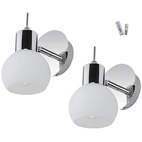 MantoLite Wandleuchte Bild Licht,2 PCS Modern Badezimmer Lampe Nachttisch Leseleuchte Spiegel Leuchte Artwork Beleuchtung Fixture Für Wohnzimmer Flurtreppen (86-265V, 5W E14 LED Birnen Inbegriffen)