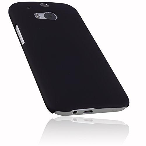 mumbi Hülle kompatibel mit HTC One M8 / M8s Handy Hard Hülle Handyhülle, schwarz