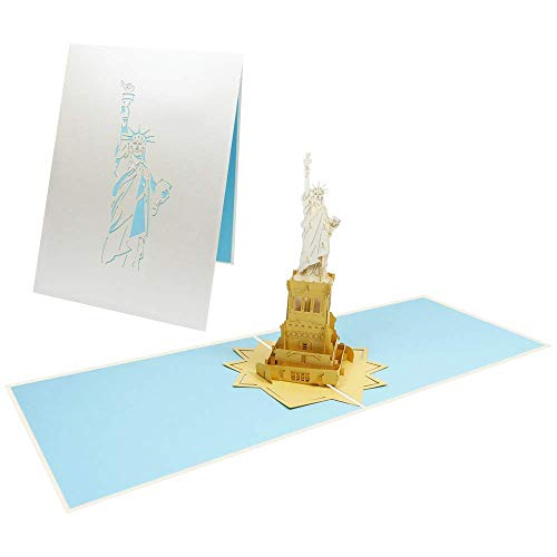 USA Pop Up Karte Freiheitsstatue Glückwunschkarte Geburtstag Reise Gutschein New York Urlaub - Freiheitsstatue 093