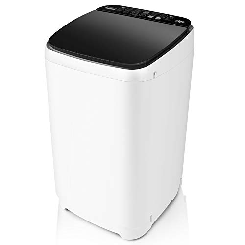 Washing Machine Nictemaw Portable Washer 13.5 Lbs Capacity Full-Automatic Compact Laundry Washer Spin with Drain Pump, 10 programs Selections with LED Display Ideal for Home, Apartments, Dorms, RV