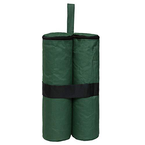 PUJING 1PCS Outdoor Camping Tent Sand Bag Sunshade Canopy Leg Weight Gazebo 600D Oxford Windproof Fixing Sandbag Tents Accessories-Green
