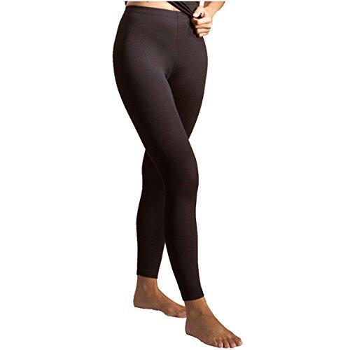 HERMKO 7720 2er Pack Damen Leggings aus der Softfaser Modal, Farbe:schwarz, Größe:44/46 (L)