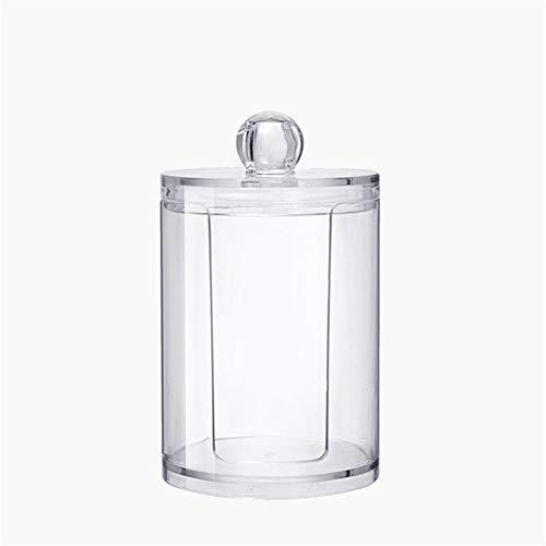 DIYARTS 2 En 1 Caja Acrilico Organizador Cilíndrica - Botella de Almacenamiento Soporte Dispensador de Transparente para Maquillajes Cosméticos Joyería Almacenamiento