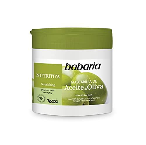 Babaria – Mascarilla Capilar De Aceite De Oliva – 400 Ml, Blanco, Fresco