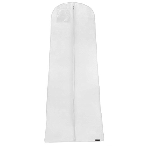 Hangerworld Lot de 10 Housses de Robe de Mariée Respirante Blanche 182x66cm