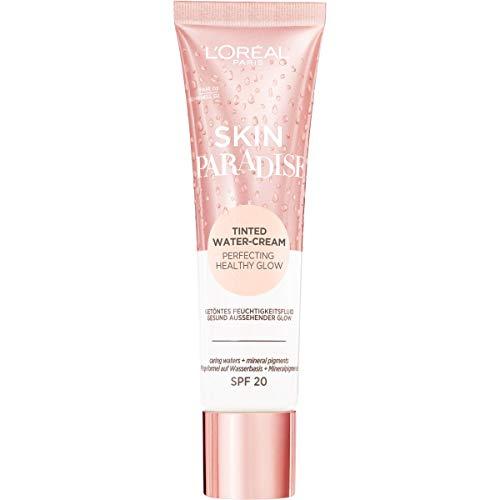 L Oréal Paris Crema Colorata Infusa d Acqua Skin Paradise, Formula Idratante Infusa d Acqua, Aloe Vera, Zenzero e Amamelide, 02 Fair - 40 Gr