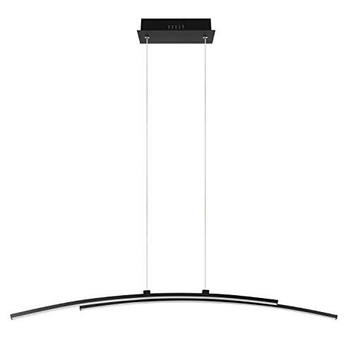 INSPIRE - Hängeleuchte mit fest eingebauten LEDs BERYL Länge 95 cm - 2700 Lumen - 4000K - Schwarzes Aluminium