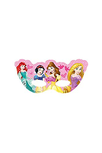 Ciao Procos 85019–Masken Papier Disney Princess Dreaming, 6Stück, Pink