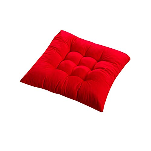 Soft Addens Addend Chair Chair Cushion Tie on Seat Sala da Pranzo Cucina Decor Office A (Colore: Giallo)-Red