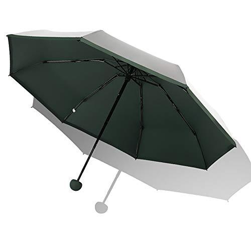 WLY Outdoor Umbrellas, Lightweight Mini Sun Umbrellas, Sun Protection, UV Protection, Folding Umbrellas, Titanium Silver Portable UV Protection, 99%,Green