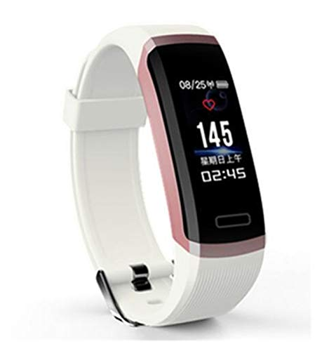 Smart Watch GT101 Monitor De Ritmo Cardíaco Impermeable Fitness Band Women Men Llame Reminder SmartWatch para iOS Android (Color : White)