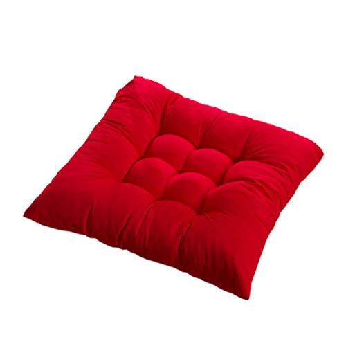 PICTURESQUE Stuhlkissen mit Bänder Sitzkissen Stuhl Polster Sitzauflage,Rot,4 Stück