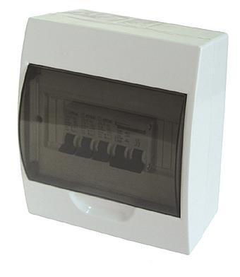 Kleinverteiler Unterverteiler aufputz inkl. PE und N-Klemmen Sicherungskasten (MKV-4)