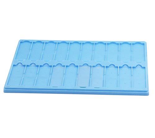 Plastic Microscope Slide Tray; 20 Capacity, One Pack (Blue)