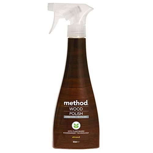 Method Wood Polish Spray, Floor Cleaner For Wood, Almond, 354 ml