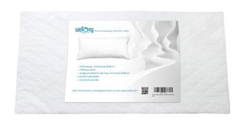 Wellony Premium Kissenbezug, 40x80 cm, wei§ - entwickelt fŸr Wasserkissen
