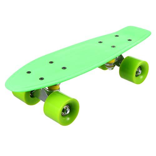 GARNECK Tabla de Skateboard Longboard para Adolescentes Adultos Principiantes Chicas Chicos Niños Rueda de Color Aleatorio 42Cm