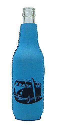 1023108 - neopreen flessenkoeler bus California blauw
