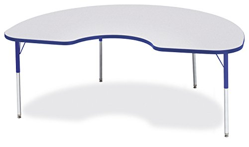 "Berries 6423JCA003 Kidney Activity Table, A-Height, 48"" x 72"", Gray/Blue/Blue"