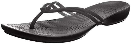CROC Damen Crocs, Isabella, Flip, W, schwarz/schwarz, 39 EU