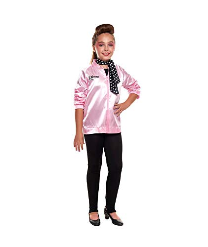 Disfraz Pink Baby Chaqueta Pantalón Pañuelo Niña Carnaval Década 50's (Talla 3-4 años) (+ Tallas)