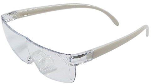 拡大眼鏡 スマートルーペ 1.3倍 ホワイト