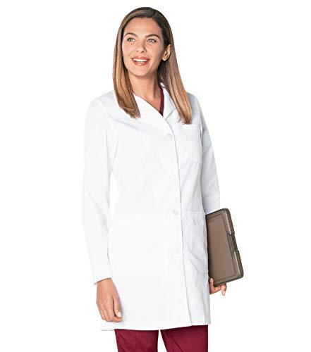 Landau 3155 - Chamarra de Laboratorio médico para Mujer con 3 Bolsillos, Ajuste Relajado, 3 Bolsillos, Clásico Ajuste Relajado Cuello de la Muesca Medicina de Laboratorio 3155, Wwxya, 8