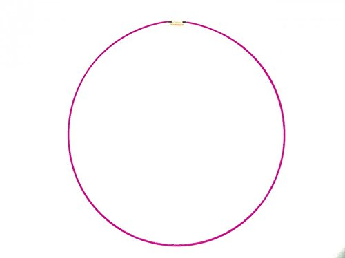 Braga de cuello, color rosa fluorescente acero, con cable