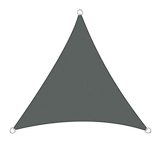 Greenbay Anthrazit Sonnensegel Sonnenschutz Segel für Balkon Terrasse Camping Garten | UV-Schutz PES Polyester | Dreieck 2x2x2m