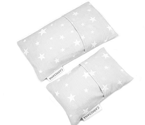 Set Saquito térmico anti cólicos (extra-pequeño para recién nacidos y normal) (Estrellas gris)