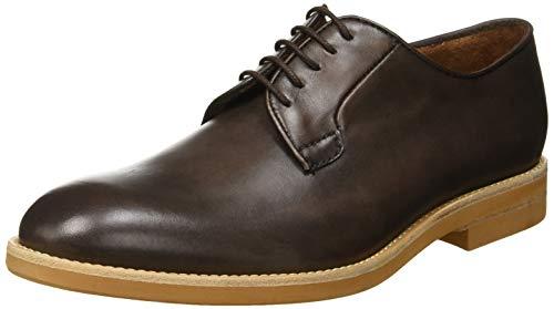 Lottusse T2116, Zapatos de Cordones Derby para Hombre, Marrón (Delave Coffe 000), 44 EU