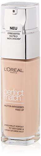 L'Oréal Paris Perfect Match Make-up 0.5.R/0.5.C Rose Porcelain, flüssiges Make-up, hautton-anpassend, pflegt die Haut mit Hyaluron und Aloe Vera