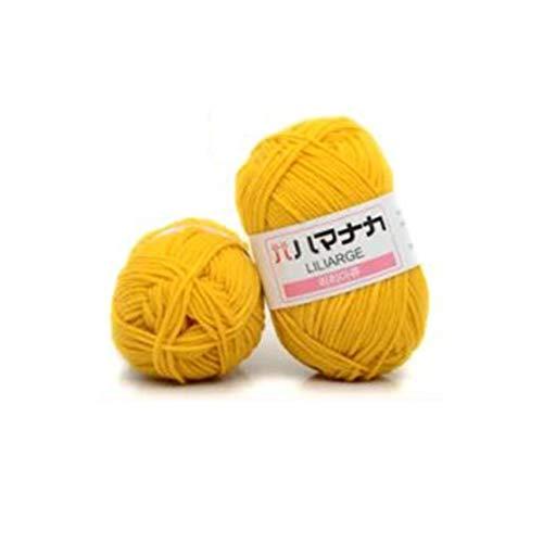 Ba30DEllylelly Hilo de algodón de leche peinado de 4 acciones, cómodo hilo mezclado de lana, hilo de coser para ropa, tejido a mano, bufanda, hilo para sombrero