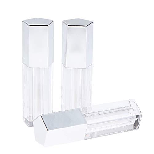 HomeDecTime 3pcs Contenant Plastique Bouteille Organisateur pour Cosmetique - Argent