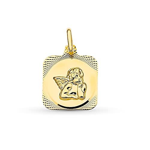 Donna della medaglia dell oro 18 carati ANGELE ANGELLO 15 mm. Frigorifero centrale quadrato - personalizzabile - registrazione inclusa nel prezzo