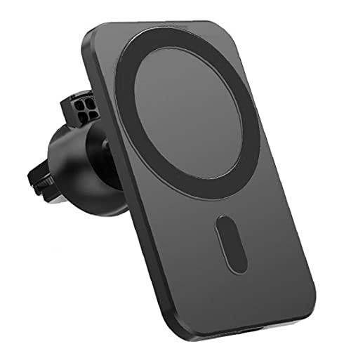 FeelMeet Cargador inalámbrico magnético del Montaje del Coche inalámbrico Negro Ajuste reemplazo del Soporte para el iPhone 12 Pro Mini MAX MagSafe
