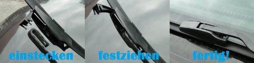 Handycop/® 2x Flex//Flat Scheibenwischer f/ür Corolla E12 E13 2002-2007 Flach Wischer Satz Set Premium